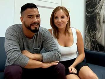Porno español amateur, española rubia follada delante de su novio