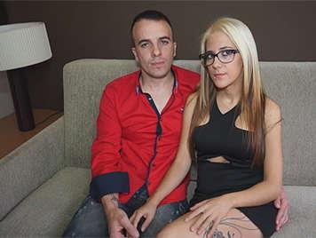 Parejita española grabando una escena porno por primera vez