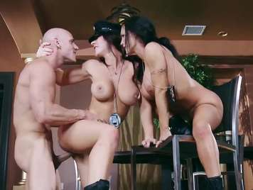Spectacular trios with two very dirty cops