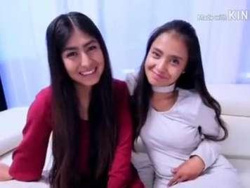Mexicana adolescente haciendo un trio