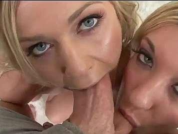 Dos rubias de garganta profunda folladas por el culo