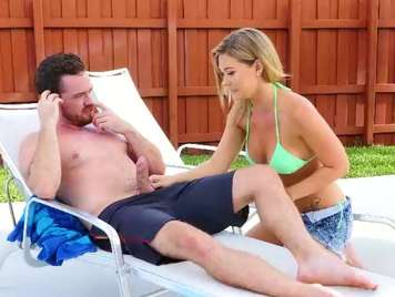Sexo en la piscina de la vecina