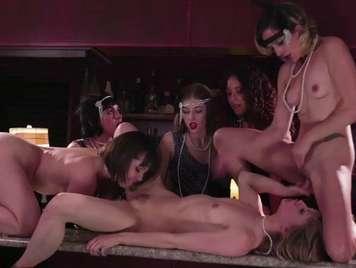 Orgias en un bar de lesbianas espectacular
