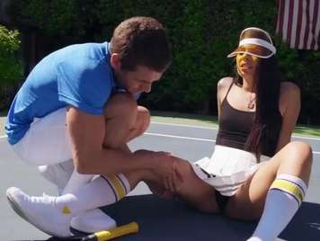 Tennisspieler Athlet will Sex im Freien