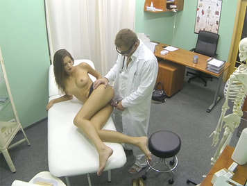 Hot slim girl fucking by her mad doctor