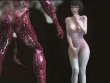 Chica hentai 3D follada por un monstruo alienígena