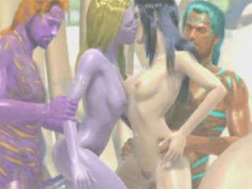 3D Hentai Monster Orgie
