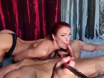 Spanisch Porno Video hausgemachte Rotschopf einen Blowjob zu tun