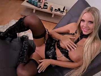 Blonde anal Masturbation