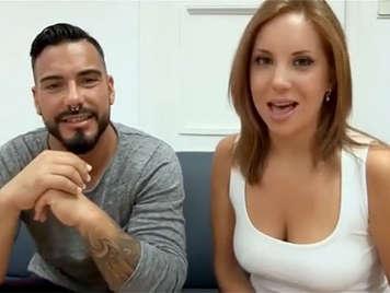 Amateur Blondine vor ihrem Freund in hausgemachten Porno-Video gefickt
