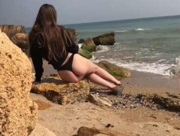 Fantasy cazzo sulla spiaggia