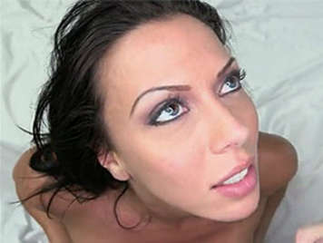 cock-sucker brunette with big blue eyes