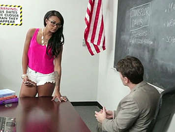 Harley Dean talks to the teacher