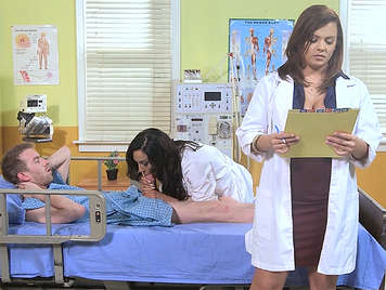 Threesome at the hospital with the horniest doctors