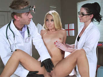 Adolescent doctor visit and ends in a threesome
