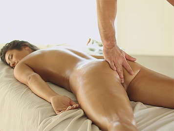 Body on body sensual massage