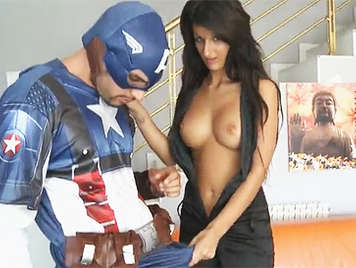 Captain America Screws The Black Widow Susy Gala
