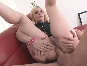 First anal fuck with an innocent russian blonde