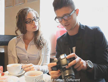 Young couple of nerds fucking for the first time after a chance encounter at a coffee shop