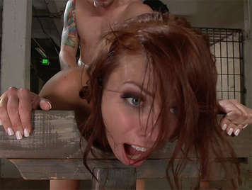 Redhead slut milf Gets Her Ass Punished Deep