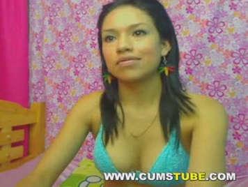 Video peruviano facendo webcam in bikini