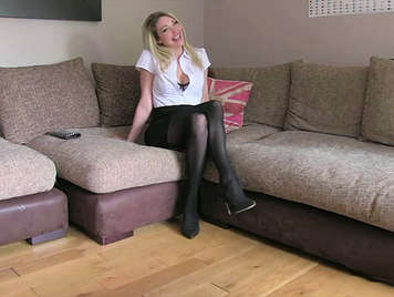 Busty blonde escort squirts with the dick, of a false agent of office work