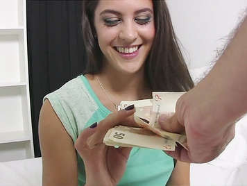 Spanish teen Waitress Fucks For Cash