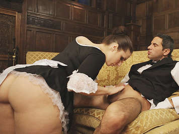 assed French maid is an expert in sucking cocks fucking with the butler