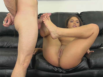 footjob and porn casting with Abella Danger