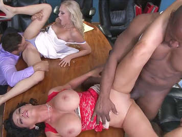 Orgy in business meeting