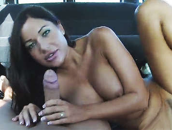 The sexy and busty Angelica Heart a ride in a van and fucks like a slut is given until a spurt of cum fills her tits