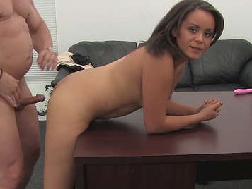 Innocent girl of 18 years cheated on fake porn casting