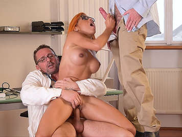 The doctor fucks his new nurse a blonde babe coming from france