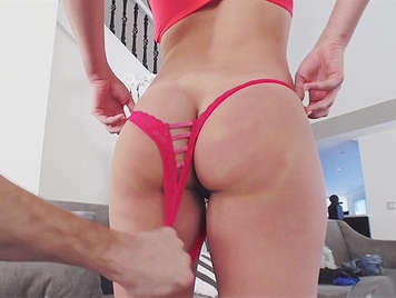 home video porn, fucking with assed girlfriend with sexy lingerie in the living room